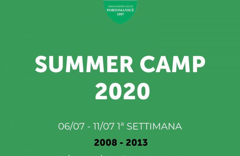 PORTOMANSUE' SUMMER CAMP 2020